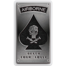 Airborne Metal Plate Sticker