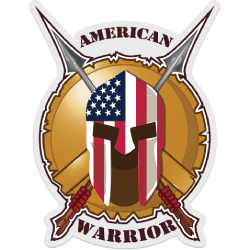 American Warrior Decal