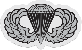 Airborne Jump Wings Sticker