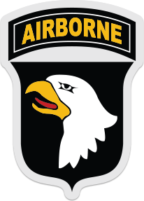 101st Airborne Eagle Logo Sticker