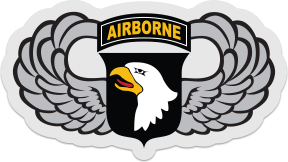 101st Airborne Eagle Wings Sticker