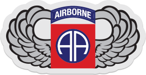 82nd Airborne Wings Logo Sticker