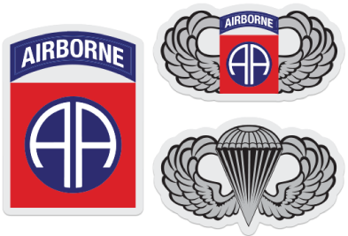 82nd airborne sticker set