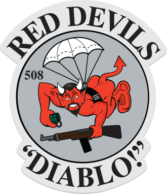 508 Red Devils Sticker