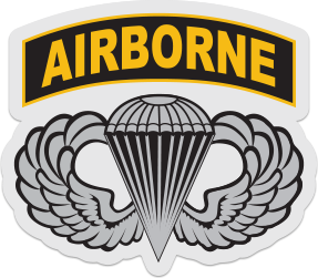 airborne wings sticker with tab