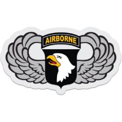 101st Airborne Wings Decal