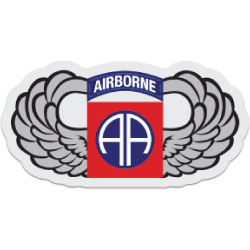 82nd Airborne Wings Decal