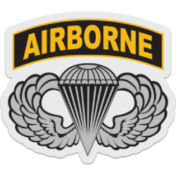 Airborne Wings with Tab Decal