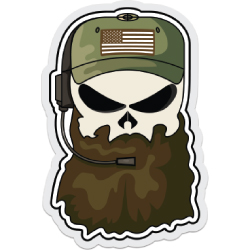 Bearded Bastard Decal
