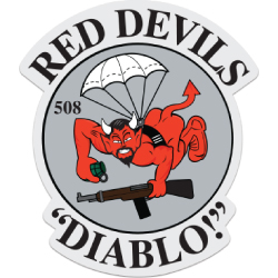 508th Red Devils Patch Decal