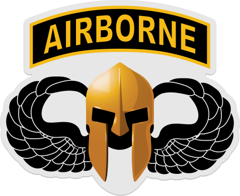 Spartan Airborne Wings Airborne Stickers