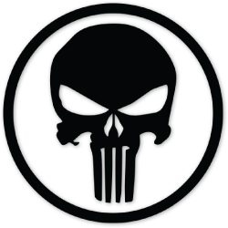 Punisher-In-Clircle-Black